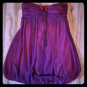Flip Maroon Strapless Bubble Dress Size 2